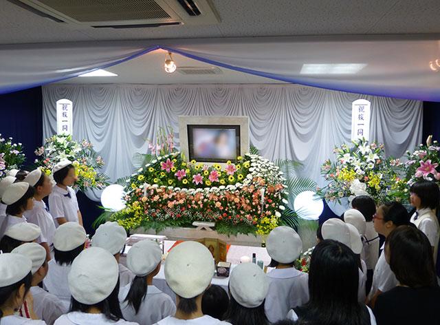 西成区岸里福祉会館で行った一般葬